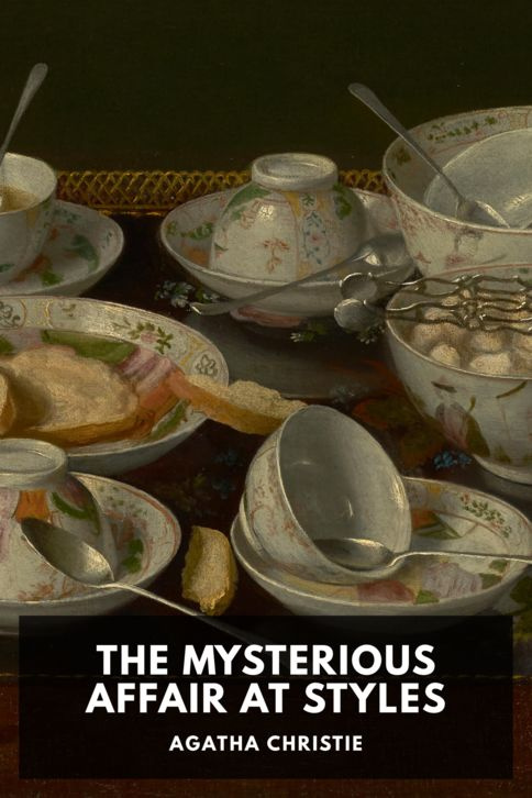 The cover for the Standard Ebooks edition of The Mysterious Affair at Styles, by Agatha Christie