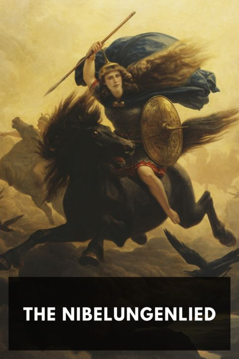 The cover for the Standard Ebooks edition of The Nibelungenlied, by Anonymous. Translated by Alice Horton