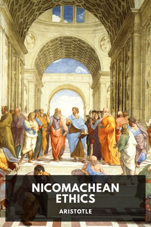 The cover for the Standard Ebooks edition of Nicomachean Ethics, by Aristotle. Translated by F. H. Peters