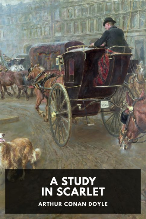 The cover for the Standard Ebooks edition of A Study in Scarlet