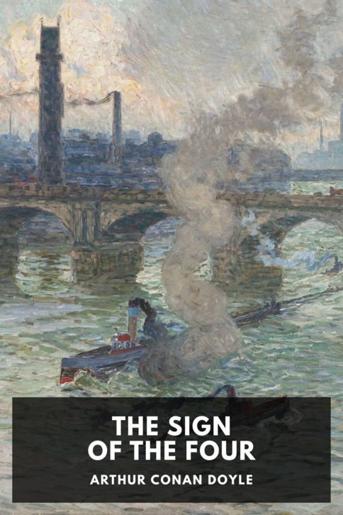 The cover for the Standard Ebooks edition of The Sign of the Four, by Arthur Conan Doyle