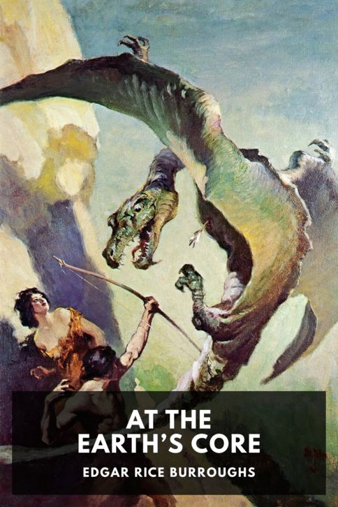 The cover for the Standard Ebooks edition of At the Earth's Core, by Edgar Rice Burroughs
