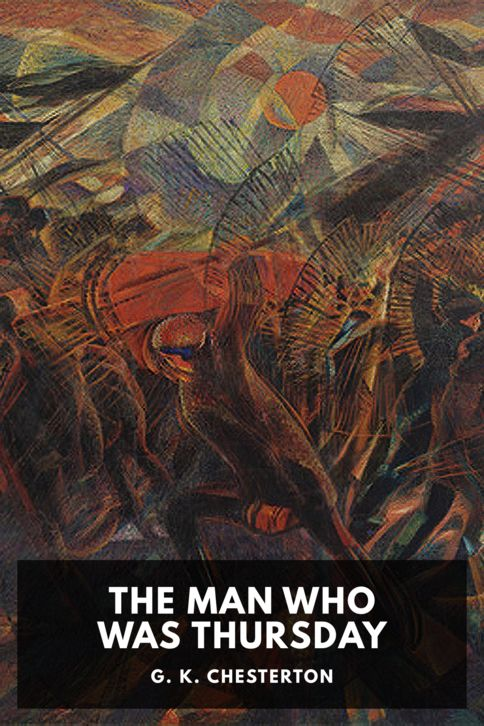The cover for the Standard Ebooks edition of The Man Who Was Thursday, by G. K. Chesterton