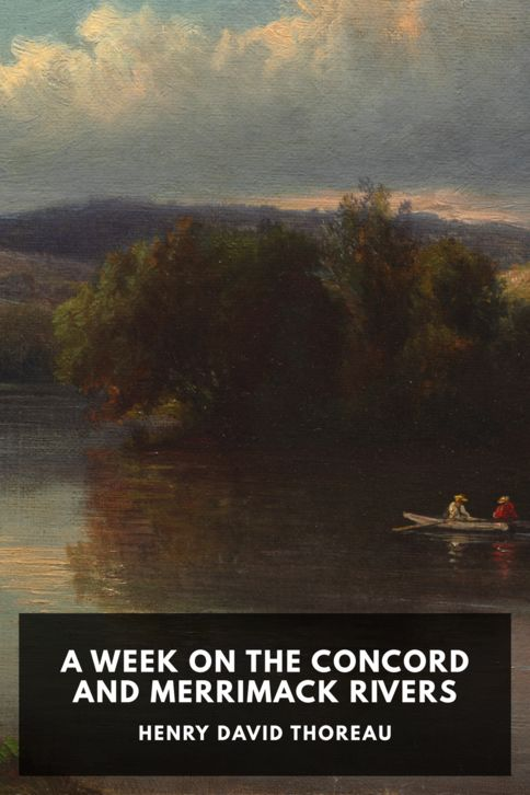 The cover for the Standard Ebooks edition of A Week on the Concord and Merrimack Rivers, by Henry David Thoreau