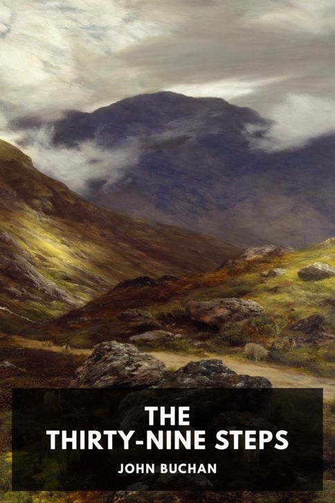 The cover for the Standard Ebooks edition of The Thirty-Nine Steps, by John Buchan