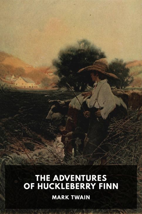 The cover for the Standard Ebooks edition of The Adventures of Huckleberry Finn