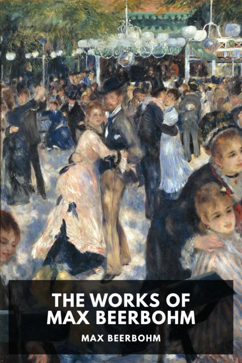 The cover for the Standard Ebooks edition of The Works of Max Beerbohm