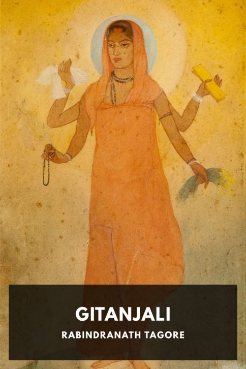The cover for the Standard Ebooks edition of Gitanjali, by Rabindranath Tagore