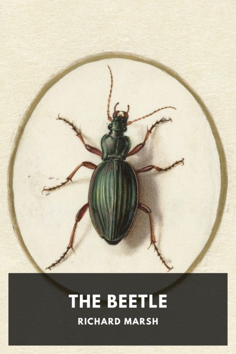 The cover for the Standard Ebooks edition of The Beetle