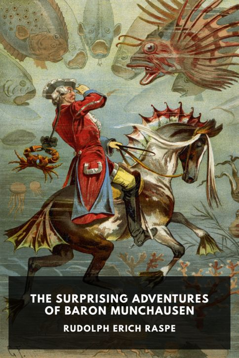 The cover for the Standard Ebooks edition of The Surprising Adventures of Baron Munchausen, by Rudolph Erich Raspe