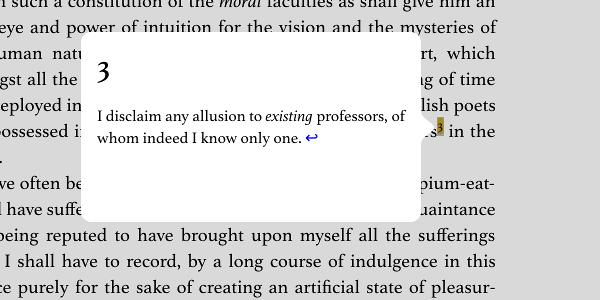 A screenshot of a popup endnote.