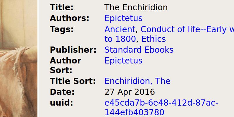 An ebookshelf featuring Standard Ebooks covers.
