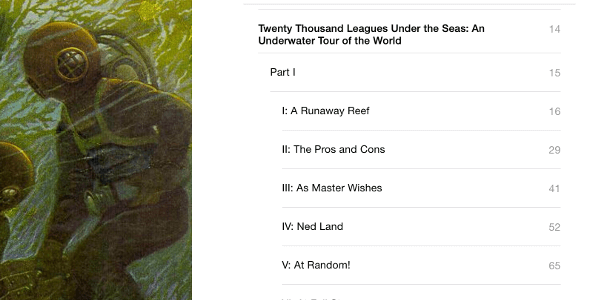 A screenshot of an ebook's table of contents.